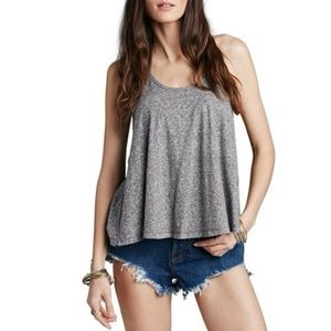 (Free People) Grey 'So In Love With You' Tank Top